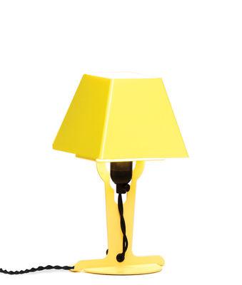 Lampe de table Fold Small H 23 cm Established Sons jaune en métal