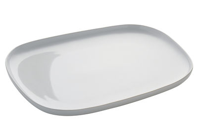 Tableware - Plates - Ovale Plate by Alessi - White - Stoneware ceramic