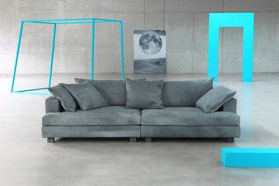 canap droit cloud atlas cuir 3 places l 220 cm cuir bleu vert diesel with moroso. Black Bedroom Furniture Sets. Home Design Ideas