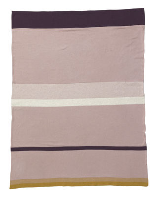 Image of Little stripy Kinderdecke / 80 x 100 cm - Baumwolle - Ferm Living - Rosa,Bunt