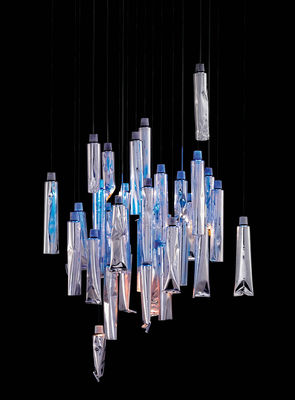 Lighting - Tu-Be I Pendant by Ingo Maurer - Aluminium - Aluminium