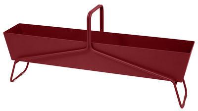 Foto Fioriera Basket lunga / L 119 x H 54 cm - Fermob - Pepper - Metallo