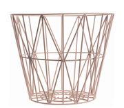 Cesto Wire Small - Ø 40 x H 35 cm di Ferm Living - Rosa - Metallo