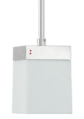 Foto Sospensione Cubetto - White Glass - 1 elemento di Fabbian - Bianco - Vetro