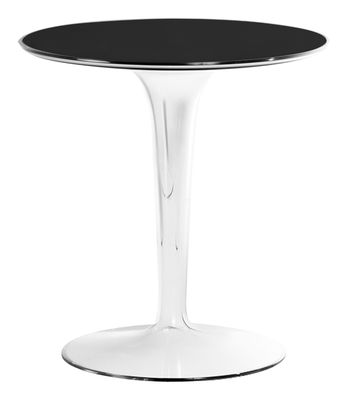 Mobilier - Tables basses - Table d'appoint Tip Top / Plateau PMMA - Kartell - Laqué noir / Pied cristal - PMMA