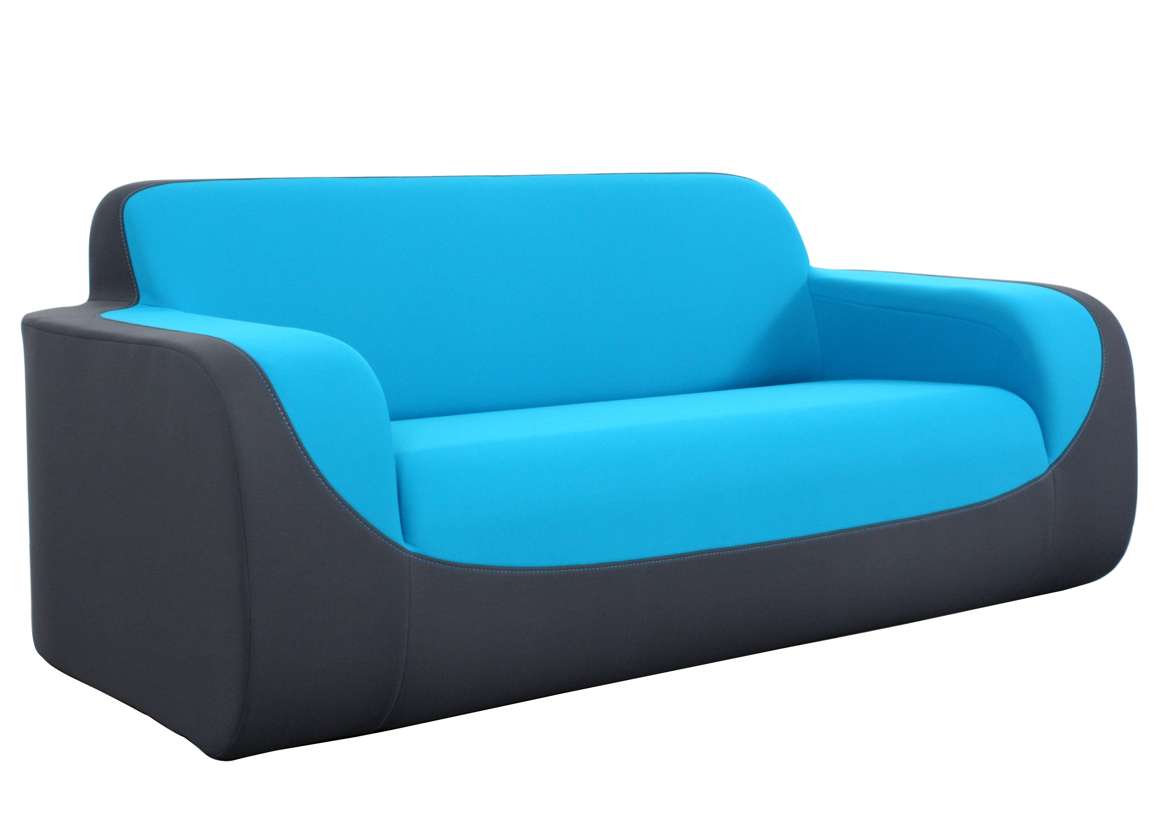 curling by ora ito sofa 2 sitzer l 180 cm grau blau deko naht t rkis by dunlopillo. Black Bedroom Furniture Sets. Home Design Ideas
