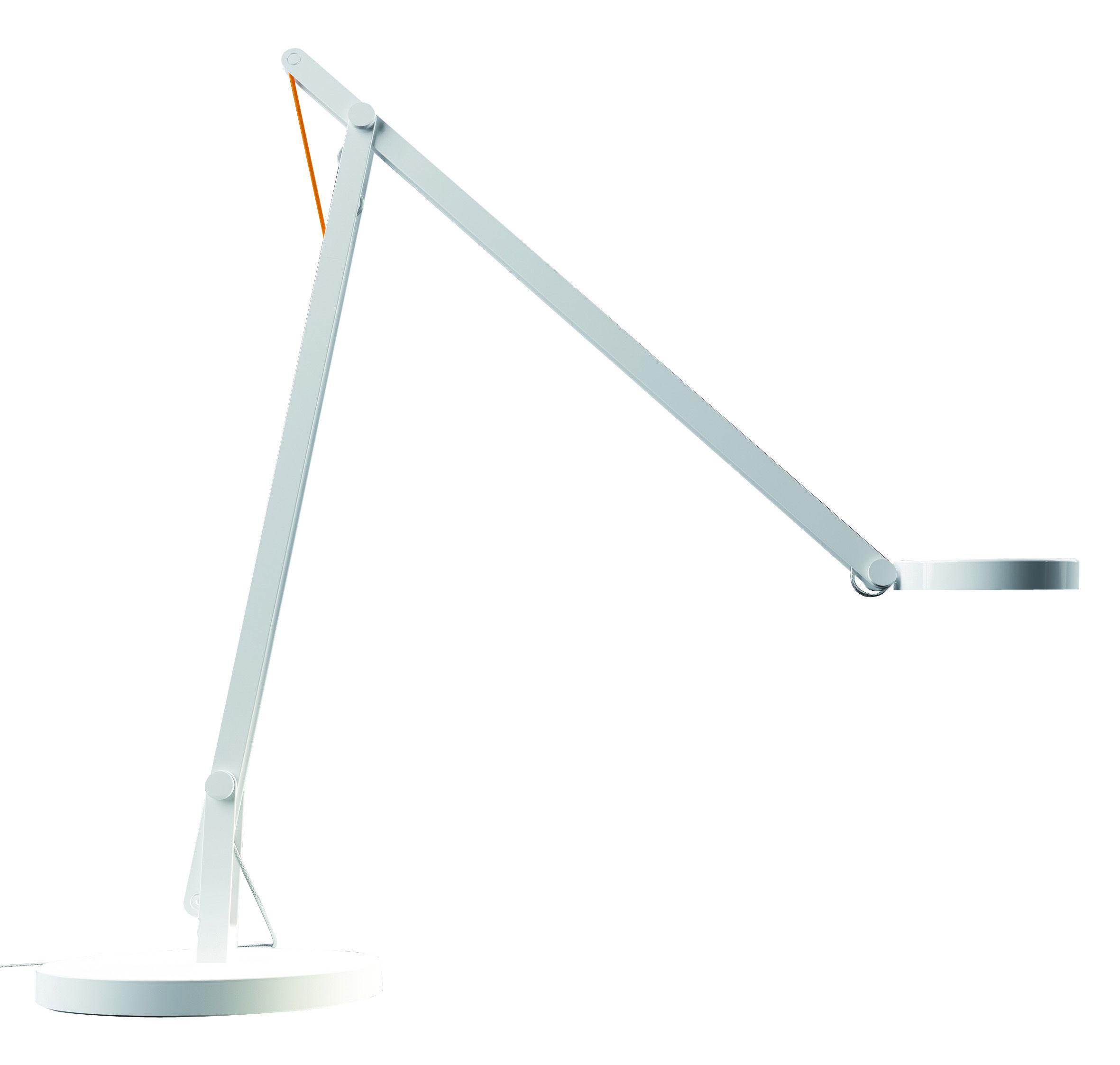 lampe de table string t1 led blanc c ble orange rotaliana. Black Bedroom Furniture Sets. Home Design Ideas
