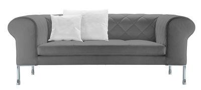 Möbel - Sofas - Barocco Sofa / Stoff - 3-Sitzer - L 236 cm - Zanotta - Stoffbezug - anthrazit-grau - Gewebe