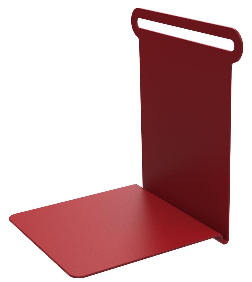 etag re knick range livres l 15 cm rouge mati re grise. Black Bedroom Furniture Sets. Home Design Ideas