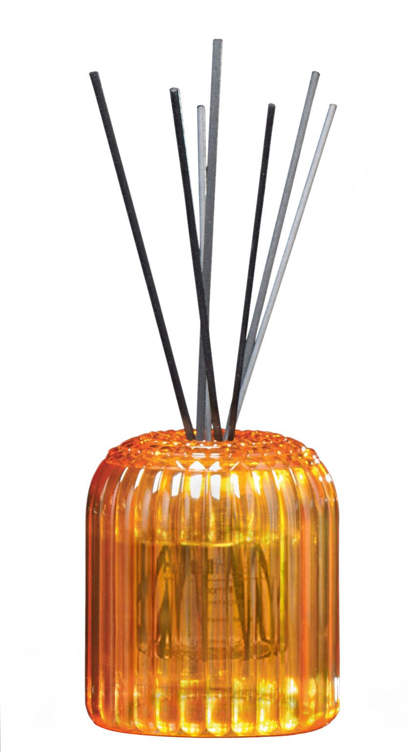 diffuseur de parfum cache cache kartell fragrances avec b tonnets orange senteur 39 neroli. Black Bedroom Furniture Sets. Home Design Ideas