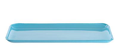Assiette All´aperto / Verre - 34 x 14 cm - Leonardo bleu en verre