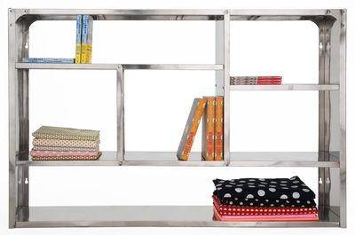 Mobilier - Etagères & bibliothèques - Etagère Métal / L 110 x H 79 cm - Tsé-Tsé - Inox - Acier inox