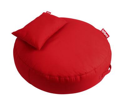 Pouf Pupillow / avec coussin - Ø 120 cm - Fatboy Ø 120 x Epais 30 cm rouge en tissu
