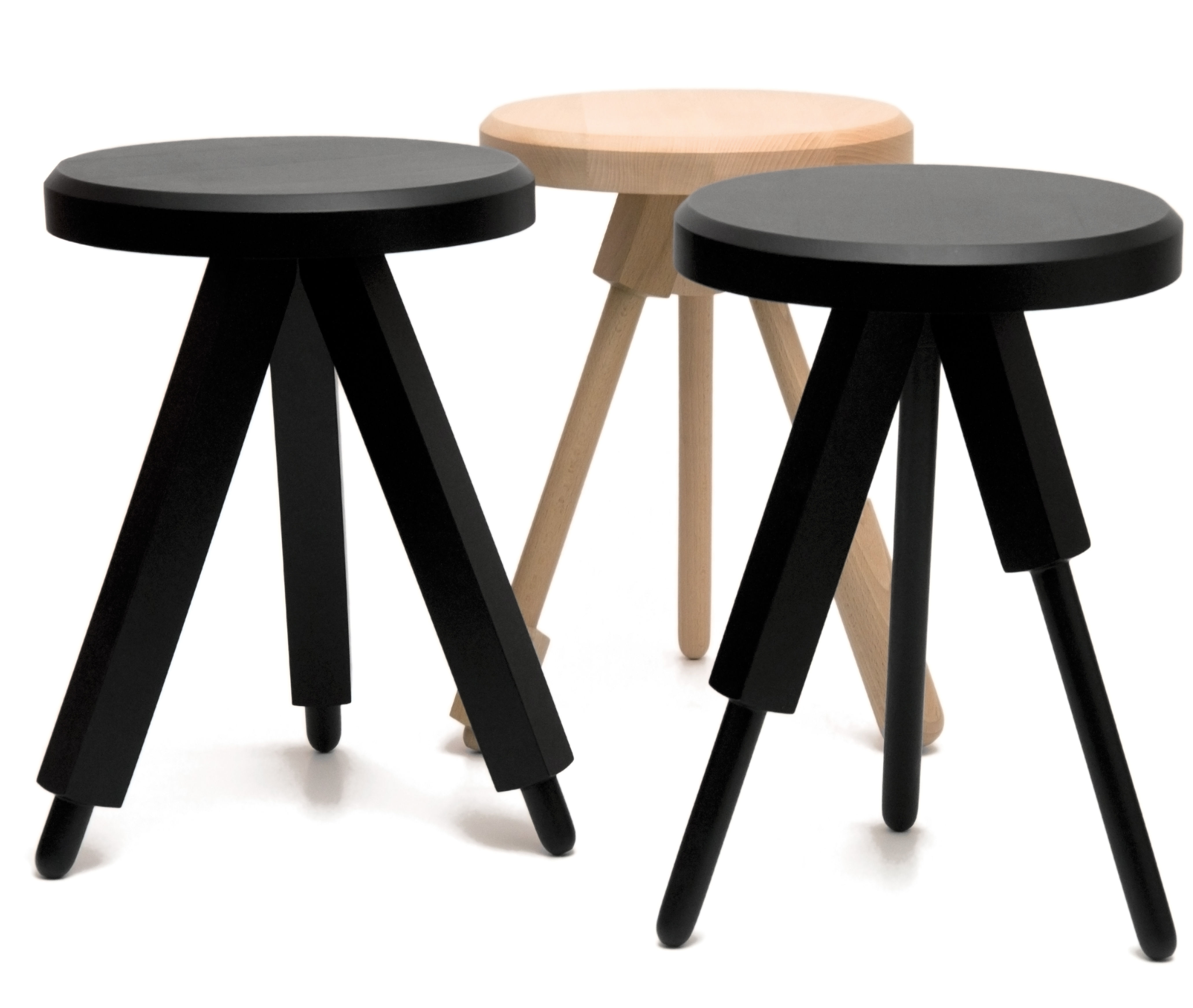 tabouret milk stool version 3 bois bois naturel version 3 y 39 a pas le feu au lac made. Black Bedroom Furniture Sets. Home Design Ideas