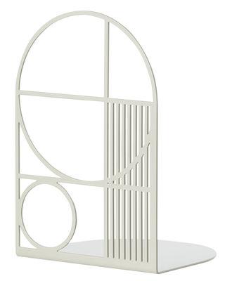Image of Reggilibri Outline - Ferm Living - Grigio chiaro - Metallo