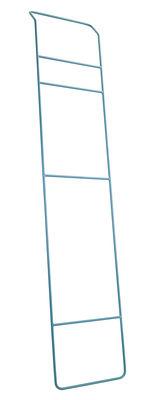 Mobilier - Portemanteaux, patères & portants - Porte-serviettes Juno / à poser - Métal - L 40 x H 200 cm - Serax - Bleu - Métal laqué