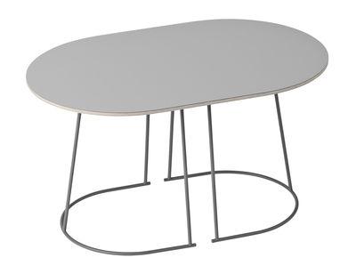 Tavolino basso Airy / Small - 68 x 44 cm - Muuto - Grigio - Metallo