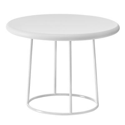 Mobilier - Tables basses - Table basse Olivia / Ø 70 x H 50 cm - Plastique & pied métal - Serralunga - Blanc - Acier inoxydable, Polyéthylène