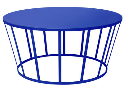 Tavolino Hollo / Ø 70 x H 33 cm - Petite Friture - Blu - Metallo