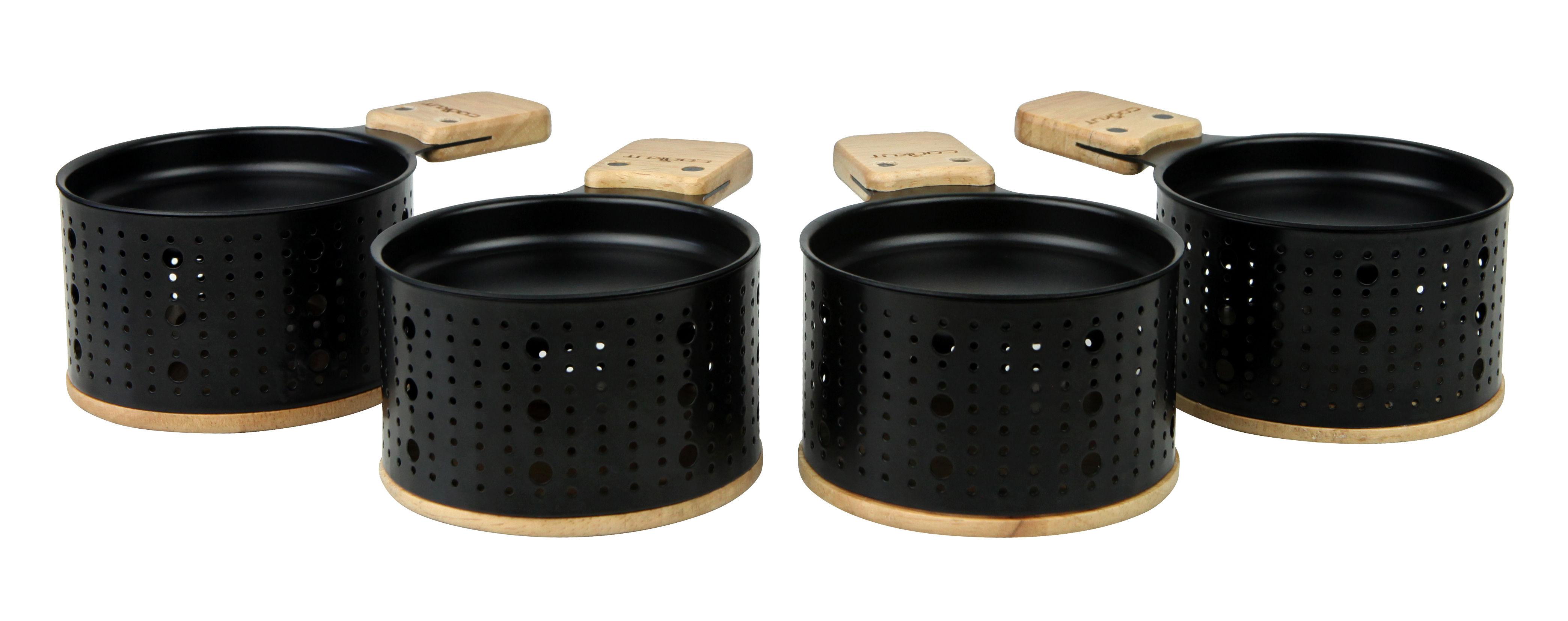Set lumi pour raclette la bougie 4 personnes noir - Bhv ustensiles cuisine ...