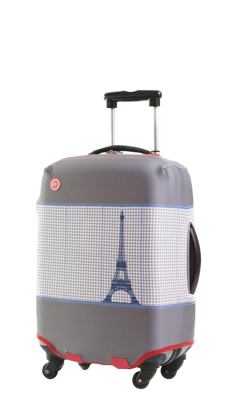 housse de valise european couture taille s pour une valise de h 50 60 cm taille s gris. Black Bedroom Furniture Sets. Home Design Ideas