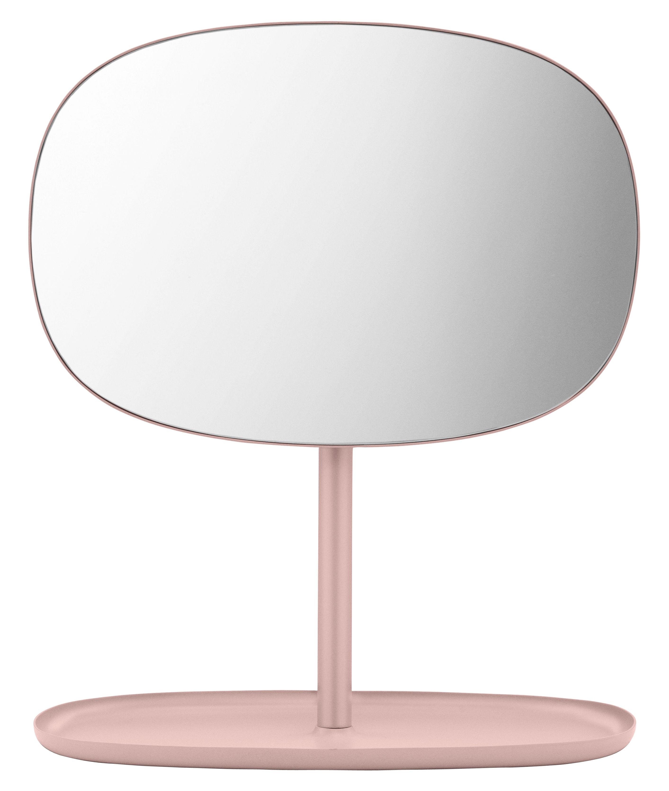 Miroir poser flip orientable vide poche rose poudr for Miroir orientable