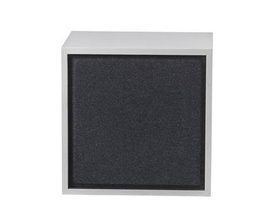 Mobilier - Etagères & bibliothèques - Panneau acoustique / Pour étagère Stacked Medium - 43x43 cm - Muuto - Noir - Feutre pressé