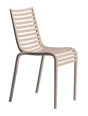 Mobilier - Chaises, fauteuils de salle à manger - Chaise empilable PIP-e / Plastique - Driade - Beige poudré - Polypropylène