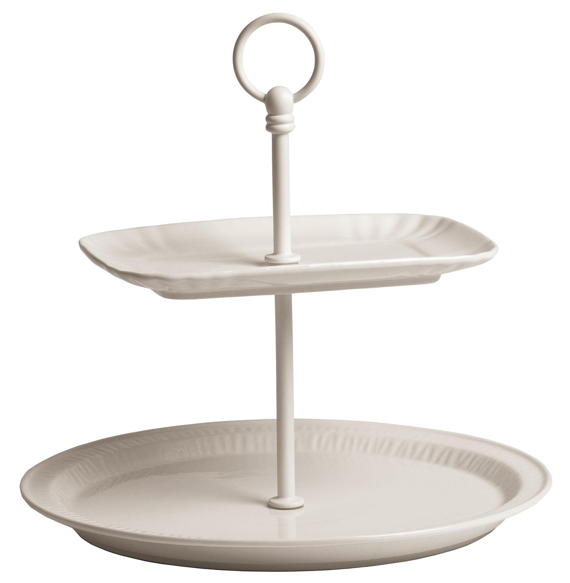 Serviteur estetico quotidiano 28 x h 25 5 cm blanc for Serviteur de table 3 etages
