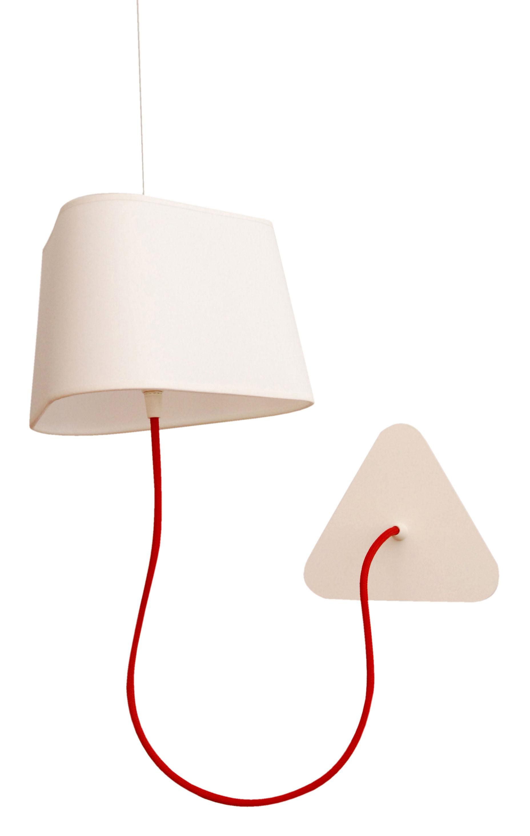 applique avec prise petit nuage l 24 cm fixation au plafond tissu blanc uni designheure. Black Bedroom Furniture Sets. Home Design Ideas