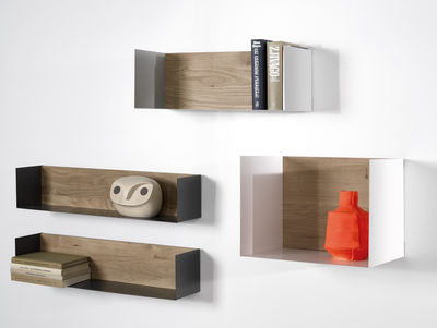 u large shelf w 70 cm natural oak white by universo. Black Bedroom Furniture Sets. Home Design Ideas