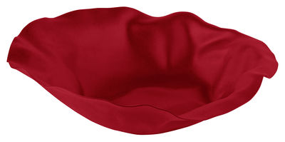 Corbeille Sarria Ø 27,5 cm Alessi rouge en métal
