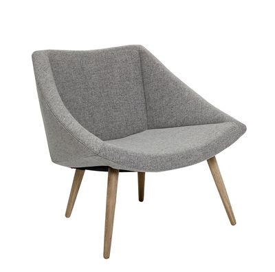 Elegant chair Gepolsterter Sessel / Wolle & Eiche - Bloomingville - Grau,Eiche natur