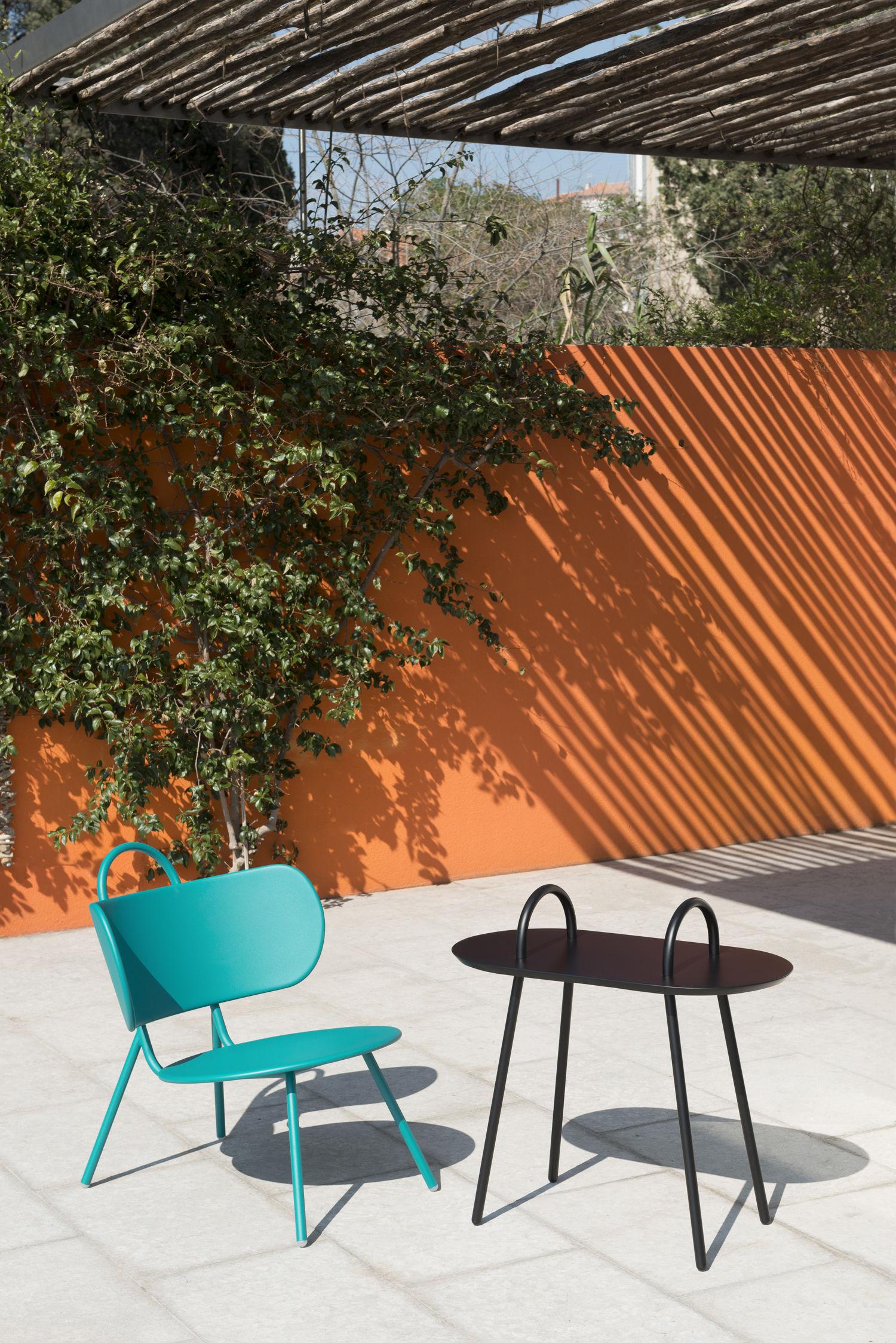 table d 39 appoint swim pour l 39 ext rieur 71 x 37 cm vert clair bibelo. Black Bedroom Furniture Sets. Home Design Ideas