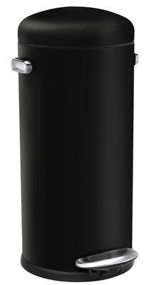 Cuisine - Poubelles de cuisine - Poubelle à pédale Retro / 30 L - Simple Human - Noir - Acier
