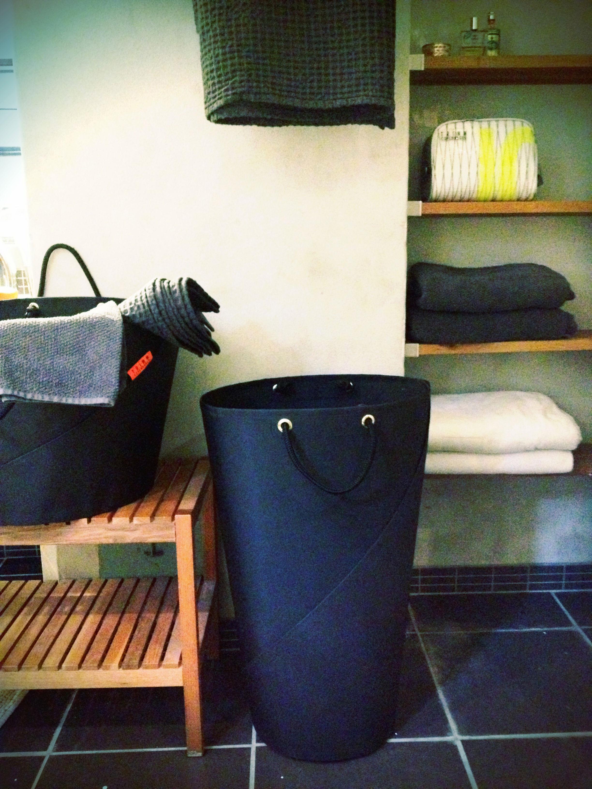 w schekorb stoff 30 cm x h 70 cm schwarz by trimm copenhagen made in design. Black Bedroom Furniture Sets. Home Design Ideas