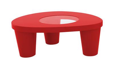 Tavolino basso Low Lita - Slide - Rosso - Vetro