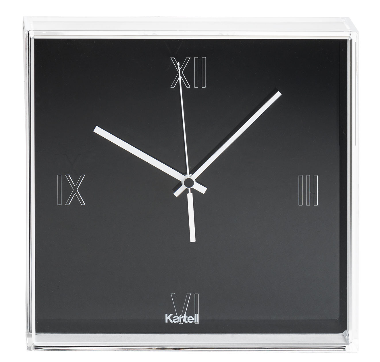 tic  tac wall clock opaque black clock face by kartell - zoom