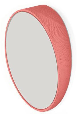 Miroir Odilon Medium / Ø 40 cm - à poser ou suspendre - Hartô corail en verre