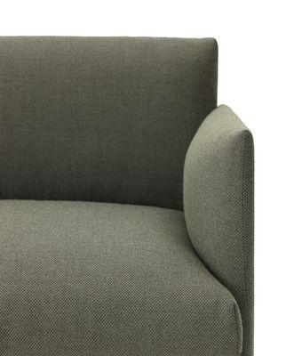 Scopri divano destro outline l 170 cm tessuto verde for Divano 170 cm