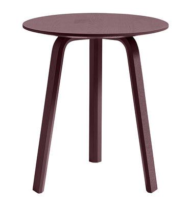 Tavolino Bella - / Ø 45 x H 49 cm di Hay - Bordeaux - Legno