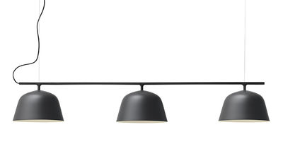 Luminaire - Suspensions - Suspension Ambit Rail / L 126 cm - Muuto - Noir - Aluminium