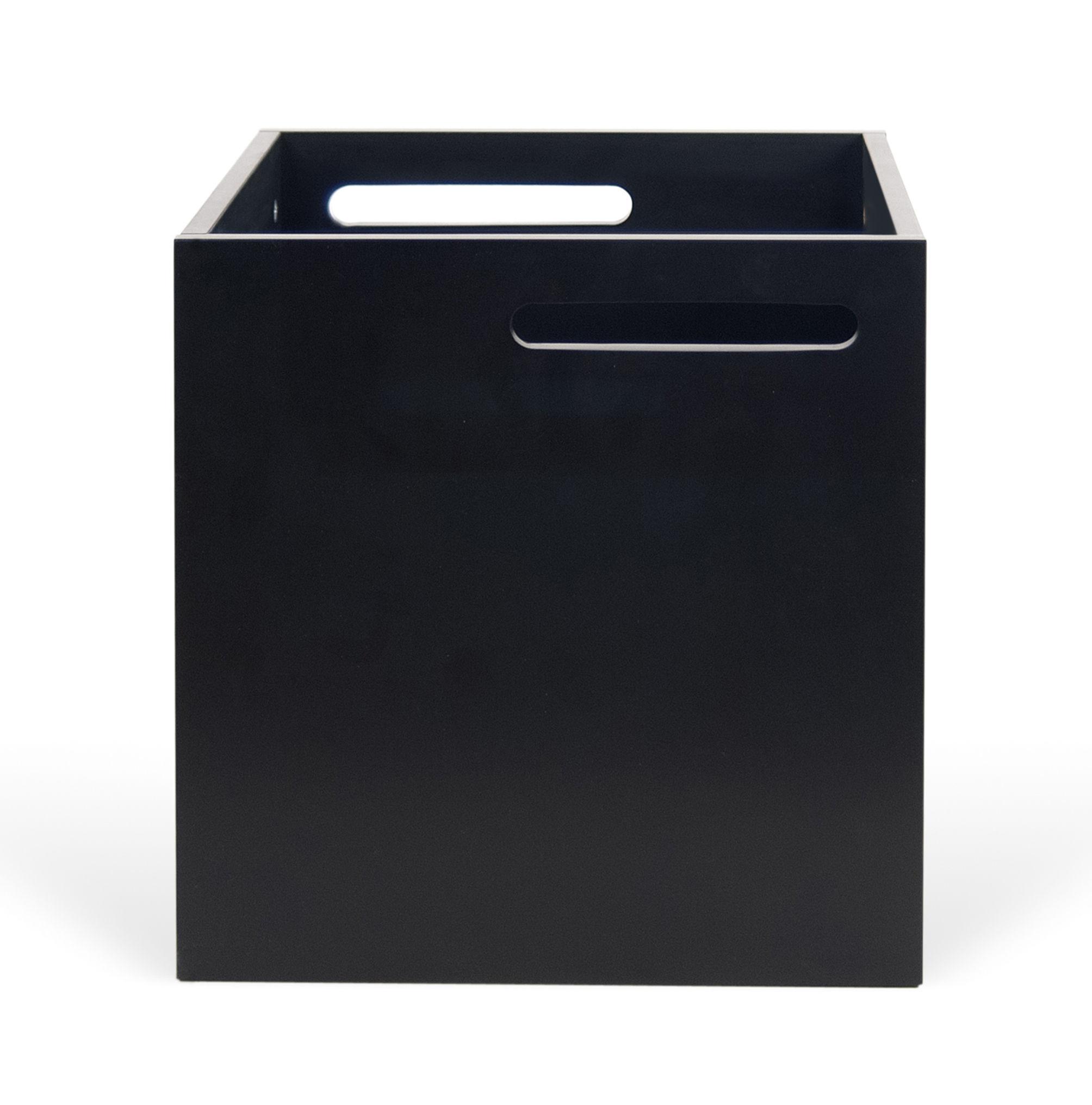 caisson pour biblioth que rotterdam noir pop up home. Black Bedroom Furniture Sets. Home Design Ideas