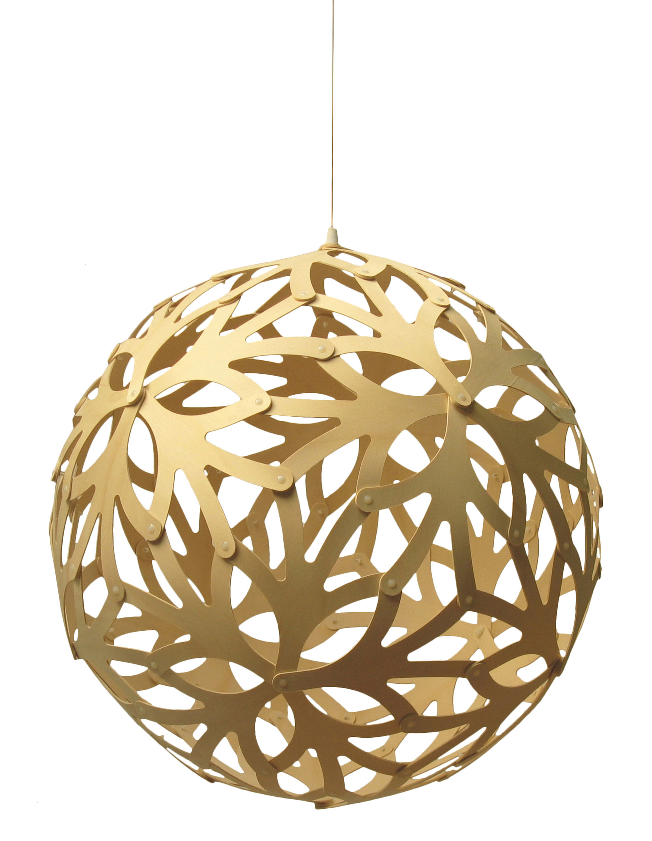 Suspension floral 40 cm bois naturel bois naturel for Suspension bois luminaire