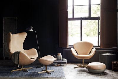 Möbel   Lounge Sessel   Swan Chair Drehsessel / Leder U0026 Gold   Limitierte  Und Nummerierte