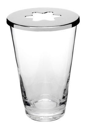 Déco - Vases - Vase Focus / Soliflore - Design House Stockholm - Transparent / Couvercle chromé - Acier chromé, Verre soufflé bouche