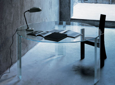 Table Kooh-I-Noor / Ø180 cm - Glas Italia transparent en verre