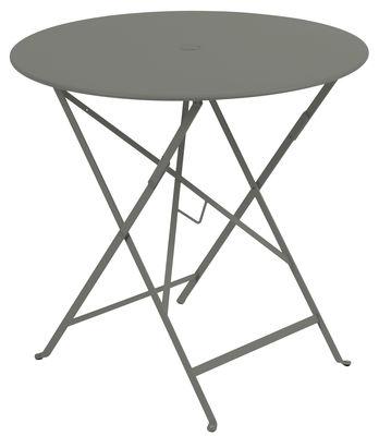 Table pliante Bistro / Ø 77cm - Trou pour parasol Romarin - Fermob ...