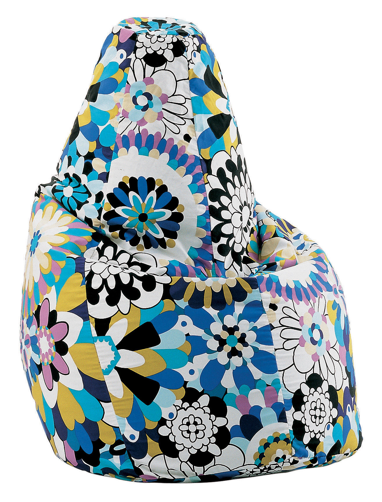 Scopri pouf sacco missoni blu di zanotta made in design for Sacco di zanotta