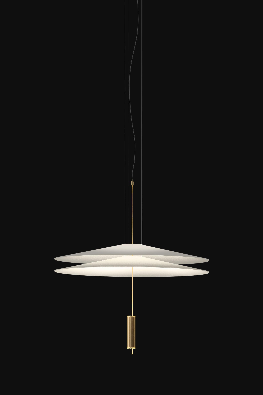 suspension flamingo led 70 cm or mat blanc vibia. Black Bedroom Furniture Sets. Home Design Ideas